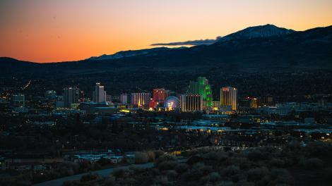 Vue aérienne de Reno, Nevada