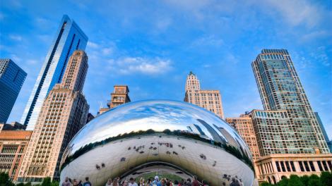La sculpture «Cloud Gate» à Chicago, Illinois