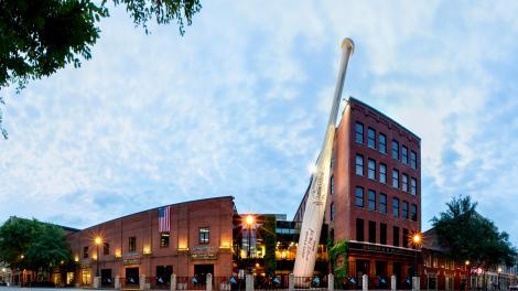 Façade du Louisville Slugger Museum & Factory, Kentucky