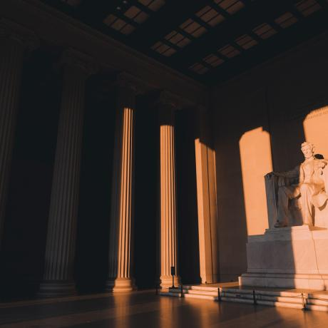 Le Lincoln Memorial sous le soleil de Washington, D.C.