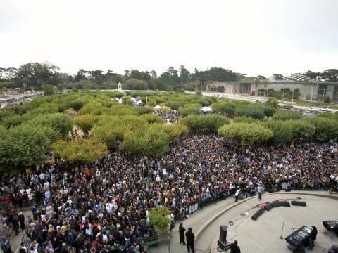 Outside Lands Music Festival dans Golden Gate Park, à SanFrancisco, Californie