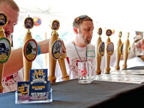 Bières pression à l'occasion du mondial de la bière