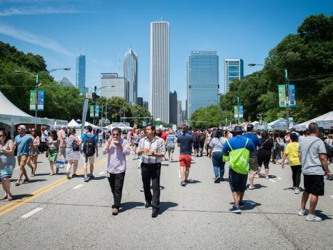 Découvrez pendant cinq jours les meilleures saveurs locales lors du festival Taste of Chicago dans Grant Park