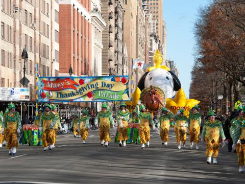 Ambiance bon enfant lors de la Macy's Thanksgiving Day Parade