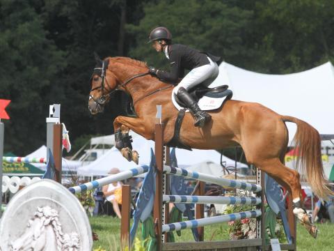 Épreuve de saut d'obstacles du concours complet Richland Park Horse Trials