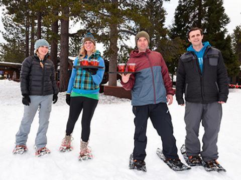 L'épreuve ultime des Snowshoe Cocktail Races