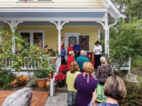 Visites de belles demeures historiques pendant l'Amelia Island Museum of History Holiday Home Tour
