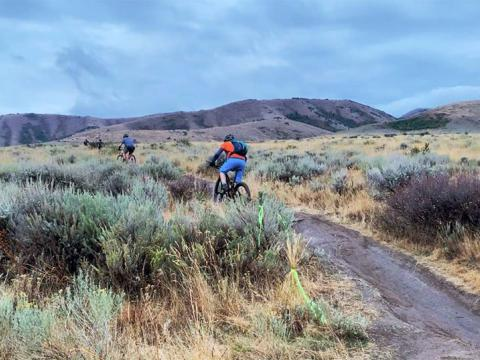 Course de VTT dans le cadre du Pocatello Fall Ultra dans l'Idaho