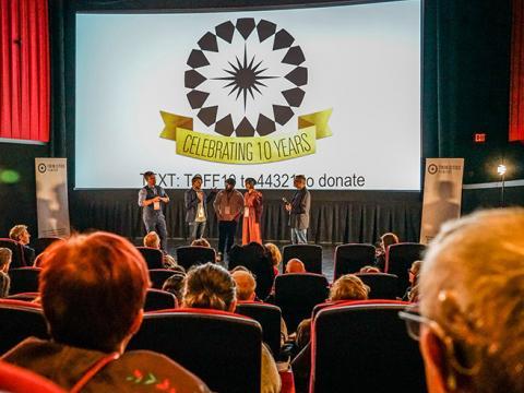 Séance de questions-réponses sur scène lors du Twin Cities Film Fest