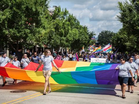 Défilé pendant la Knox Pridefest à Knoxville, Tennessee