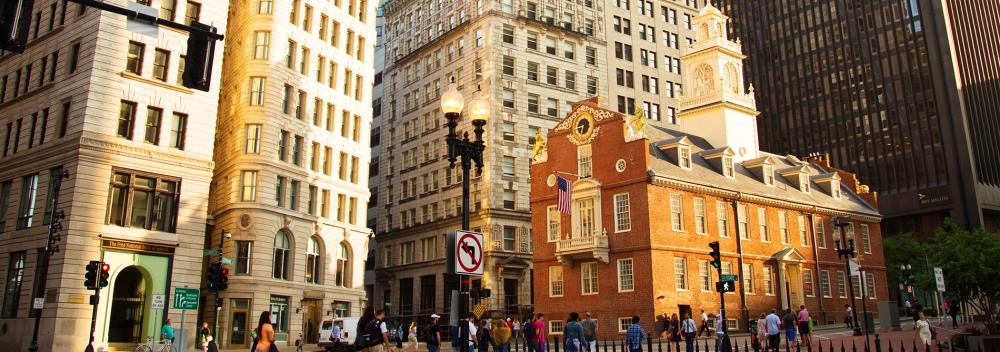 Old State House dans le centre de Boston, Massachusetts